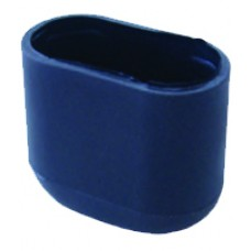 Oblong external chair foot Suits 15 x 32mm oval chair tube